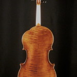 Back of ergonomic viola.